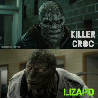 @DC MARVEL MOVIES  KILLER  CROC  LIZARD @dcmarvel_movies - BATTLE OF THE DAY Killer Croc vs Lizard (DCEU and MCU Versions) - Prep: None Morals: Off Time: Night 2 points for an explanation - ***This is not a contest of who do you like more? This is a 1 on 1 Battle-Fight between the two characters in the picture.*** Leave your vote in the comment section!