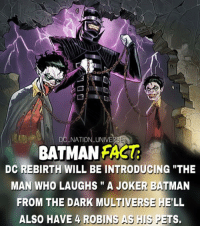 "DC METAL is part of the DC rebirth soft Reboot it's part of this thing Called Rebirth just like the new 52 , so if you are a smartass that's gonna comment hey man get your facts right it's METAL NOT REBIRTH don't do that to yourself. That's another level of crazy and horrifying. dc dccomics dceu dcu dcrebirth dcnation dcextendeduniverse batman superman manofsteel thedarkknight wonderwoman justiceleague cyborg aquaman martianmanhunter greenlantern theflash greenarrow suicidesquad thejoker harleyquinn comics: DC NATIONLUNIVE  BATMAN FAS  DC REBIRTH WILL BE INTRODUGING ""THE  MAN WHO LAUGHS"" A JOKER BATMAN  FROM THE DARK MULTIVERSE HE'LL  ALSO HAVE 4 ROBINS AS IS PETS. DC METAL is part of the DC rebirth soft Reboot it's part of this thing Called Rebirth just like the new 52 , so if you are a smartass that's gonna comment hey man get your facts right it's METAL NOT REBIRTH don't do that to yourself. That's another level of crazy and horrifying. dc dccomics dceu dcu dcrebirth dcnation dcextendeduniverse batman superman manofsteel thedarkknight wonderwoman justiceleague cyborg aquaman martianmanhunter greenlantern theflash greenarrow suicidesquad thejoker harleyquinn comics"