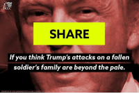 Trump's anti-Muslim attacks are just too awful.   SIGN THE PETITION to denounce his hate speech: http://dems.me/2af50yR: DCCC  SHARE  If you think Trump's attacks on a fallen  soldier's family are beyond the pale.  DERMATME OF GAGESKODMORE PHOTO FLICKR COMPHOTOSGAGESKIDMOR Trump's anti-Muslim attacks are just too awful.   SIGN THE PETITION to denounce his hate speech: http://dems.me/2af50yR