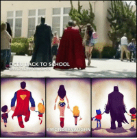 Memes, School, and Spanish: DCEU BACK TO SCHOOL  WONDERVAUGH BACK TO SCHOOL! The first day couldn't be any cooler. Here are 2 new WALMART commercials, one in English and the other in Spanish. * Inspired by the DCEU Trinity starring @gal_gadot @benaffleck @henrycavill *** superhero injustice dceu dc dccomics dcrebirth dcentertainment dcnation dcextendeduniverse girlpower women femaleempowerment manofsteel thedarkknight backtoschool firstday walmart