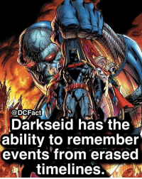 Do you think the DCEU needs a reboot?: @DCFact  Darkseid has the  ability to remember  events from erased  aar ( timelines. Do you think the DCEU needs a reboot?