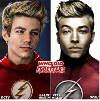 Memes, Black, and Hair: DCTV  WHO DID  ITBETTER?  IGI GDC MARVEL UNITE  GRANT EZRA  GUSTIN MILLER  DCEU Which BarryAllen rocks the ComicAccurate Blonde Look Better ? 🤔 GrantGustin or EzraMiller ? When Ezra was first cast I was hoping they'd make him Blonde in JusticeLeague, But hair isn't that important so I really don't mind his natural black hair in the DCFilms. 🤷🏽♂️ DCEU ⚡️ DCExtendedUniverse 💥 TheFlash DC ( Artist : @spdrmnkyofficial ) FOLLOW HIM !
