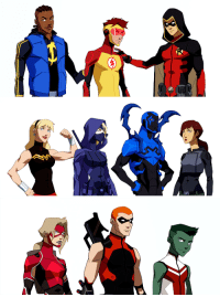 Target, Tumblr, and Blog: dcvertigodaily:Young Justice: Outsiders character design close-up.