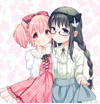 Madoka and Homura are going on a cute date!: dd  o Madoka and Homura are going on a cute date!