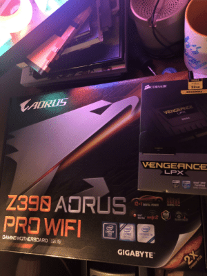 Just need the CPU and the CPU cooler: DDR4  4x8os  CORSAIR  32GB  3000MHz  CADRUS  VENGERNCE  LPX  DDR4  VENGEANCE  LPX  Supports  Intel XMP  Certified  QUAD OHANINEL  Z390 ADRUS  PROWIFI  12+1 DIGITAL POWER  GAMING es  RGB  Intel  B02 la WAVE2  S  intel)  (intel)  intel)  CHIPSET  Z390  inside  OPTANE  MMORY  CORE  9th Gen  GAMING MOTHERBOARD LGA 115  ADY  GIGABYTE  PPORTS  2X  Copper PCB Just need the CPU and the CPU cooler