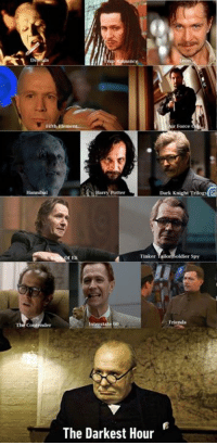 9gag, Dank, and Friends: De  Fifth  Force  Hannibal  Potter  Dark Knight Trilogy  Eli  Tinker Tail  r Spy  Friends  e 60  The Darkest Hour Gary Oldman, siriusly a chameleon. https://9gag.com/tag/gary-oldman?ref=fbpic
