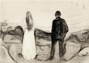 deadpaint: Edvard Munch, Two human beings (the lonely ones): deadpaint: Edvard Munch, Two human beings (the lonely ones)