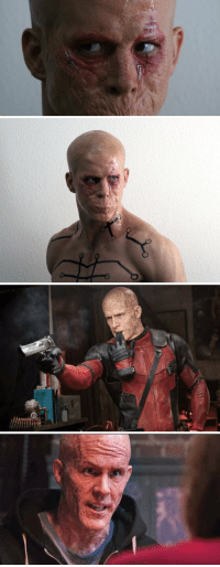 Memes, X-Men, and Ryan Reynolds: Deadpool's face in X-Men Origins vs. in Deadpool movie. Both played by Ryan Reynolds. MovieFacts