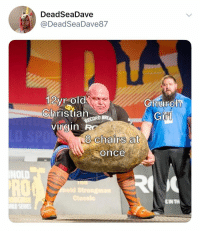 Church, Memes, and Virgin: DeadSeaDave  @DeadSeaDave8.7  12vr old  ChristianR  virgin R  Church  Gi  8 chairs at  Oonce  NOLD  RO  EIN TH need me a good Christian (t: deadseadave87)