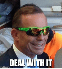 Turnbull's advice for Abbott: DEAL WITH IT  img flip com Turnbull's advice for Abbott
