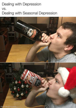 🎶It's the most wonderful time of the year!🎶: Dealing with Depression  VS.  Dealing with Seasonal Depression  WER  DracoAdamantus  PEPPERMINT  BARX  ILEYS  ORIGINAL  Frish Cream 🎶It's the most wonderful time of the year!🎶