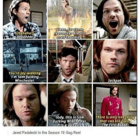 sam fucking winchester: Dean SKorSome  reason her breasts  burnin  Ahhhhhh!  aren't  You're jay-walking,  I'm Sam fucking  Jackpot.  Winchester.  There is only one thing  Jody, this is Sam  fucking Winchester.  that can kituCain  It is a The First Blade  Jared Padalecki in the Season 10 Gag Reel sam fucking winchester