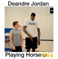 """DeAndre Jordan, Memes, and Ballers: Deandre Jordan  BASIE THAIT  Playing Horse The Funniest Game of Horse😂🙌 Comment """"BALLER"""" Letter by Letter below without being Interrupted for a follow! (98% actually can't do it!) 😳 - (FOLLOW @Sportzmixes FOR A CHANCE TO WIN A SHOUTOUT!🔥) - @dunkfilmz"""