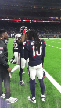 Espn, Memes, and Texans: .@DeAndreHopkins & @DemaryiusT meet up with #Texans legend @johnson80 before #MNF!  📺: #TENvsHOU on ESPN (8:15pm ET) https://t.co/iYbwQWvrdD