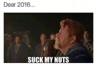 suck my nuts: Dear 2016  SUCK MY NUTS  UNKIE