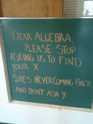 Tumblr, Http, and Back: DEAR ALLE BRA  PLEASE STOP  SKINb US TO FIND  YOUR X  0  SHES NEVERCOMING BACK  AND DONT ASK Y If you are a student Follow @studentlifeproblems