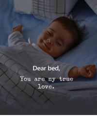 Love, True, and You: Dear bed  You are my true  love.