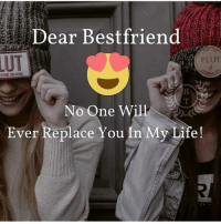 Life, Memes, and 🤖: Dear Bestfriend  LUT  FLUT  DISE ISLAND  No One Will  Ever Replace You In My Life!