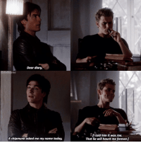 [3x16] requested, and I'm glad bc I miss this omg! I have off school tmrw so I can be active :))- —————— defan, dalaric or denzo?: Dear diary,  litstydscene  A chipmunk asked me myname today,  told him it was Joe.  That lie will haunt me forever.U [3x16] requested, and I'm glad bc I miss this omg! I have off school tmrw so I can be active :))- —————— defan, dalaric or denzo?