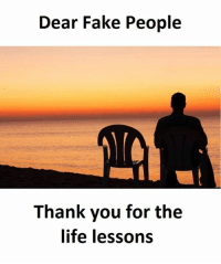 fake people: Dear Fake People  Thank you for the  life lessons