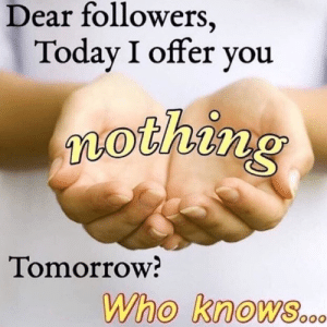 today i offer you nothing