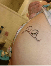 Tattoos, Xxx, and Australia: Dear Garlic Bread Memes, I thought I would share with you my dedication to the cause of Garlic Bread. Got the most important thing in my life tattooed on my ass. I'm standing strong with Australia. #prayforAustralia  Beci xxx