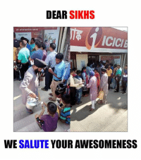 Sikh: DEAR  SIKHS  at attractive rates  ICICI  WE SALUTE  YOUR AWESOMENESS
