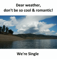 Memes, Cool, and Weather: Dear weather,  don't be so cool & romantic!  We're Single Follow our new page - @sadcasm.co