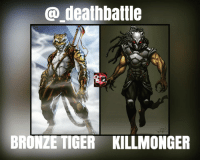 death battle  LES  BRONZE TIGER KILLMONGER bronzetiger vs killmonger Location Jungle Prep 2 Days equal Bloodlust 15% Morals character based Equipment standard Starting Distance 30 meters apart Win by death deathbattle benturner ner erikkillmonger dccomics marvelcomics leagueofassassins leagueofshadows blackpanther cosplay