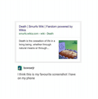 Bowser, Instagram, and Life: Death l Smurfs Wiki I Fandom powered b  Wikia  smurfs wikia.com wiki Death  Death is the cessation of life in a  living being, whether through  natural means or through...  bowser jr  I think this is my favourite screenshot l have  on my phone i just found my manager's instagram i could really fuck with his page