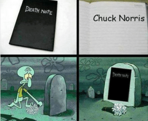 Chuck Norris, Facebook, and Meme: DEATH NotE  Chuck Norris reeolu: greatjaggi:  The shit on my facebook feed just makes me feel like i got teleported back to 2009-ish meme hell  holy fuck