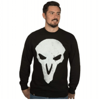 Death, Http, and Enemies: 'Death walks among you.' Let your enemies know who they're dealing with. This Overwatch crew neck fleece is disappearing, so get yours for $22.50 (regularly $44.99) while they last. http://bit.ly/2MOvk13