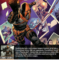Wolverine VS Deathstroke who wins? ________________________________________________________ Thor GreenLantern WonderWoman JusticeLeague DC Superman Batman Deadpool DCEU Joker Flash DeathStroke DarthVader Aquaman Robin Hulk Deadpool Like Spiderman Avengers CaptainAmerica Like4Like Facts Comics Marvel StarWars Marvel IronMan Disney Wolverine: Deathstroke has a very unique weapon loadout, as he has a  Promethium Armor that can regenerate, Promethium Sword  and a Plasma staff. A pistol that also serves as a sniper rifle.  With prep he has made a Kryptonite sword and a bomb to  incapacitat the Justice League.  COMIC SOURCE Wolverine VS Deathstroke who wins? ________________________________________________________ Thor GreenLantern WonderWoman JusticeLeague DC Superman Batman Deadpool DCEU Joker Flash DeathStroke DarthVader Aquaman Robin Hulk Deadpool Like Spiderman Avengers CaptainAmerica Like4Like Facts Comics Marvel StarWars Marvel IronMan Disney Wolverine