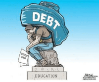 Student debt skyrockets. College costs are through the roof. If you subsidize something you get more of it. In this case it is costs. And a big dose of cultural Marxism in the mix as well. More in today's Liberty Report:  Government-Backed Student Loans: Success Or Disaster? https://youtu.be/S5aTylBkGLo: DEB  E EDUCATION Student debt skyrockets. College costs are through the roof. If you subsidize something you get more of it. In this case it is costs. And a big dose of cultural Marxism in the mix as well. More in today's Liberty Report:  Government-Backed Student Loans: Success Or Disaster? https://youtu.be/S5aTylBkGLo