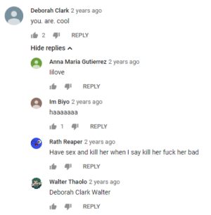 Anna, Bad, and Sex: Deborah Clark 2 years ago  you. are. cool  2  REPLY  Hide replies  Anna Maria Gutierrez 2 years ago  lilove  REPLY  Im Biyo 2 years ago  haaaaaaa  REPLY  Rath Reaper 2 years ago  Have sex and kill her when I say kill her fuck her bad  REPLY  Walter Thaolo 2 years ago  Deborah Clark Walter  REPLY walter #2