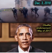 Friends, Guns, and Memes: Dec. 3, 2018  Obama  endorsement  May of 2017 So let the events in Europe be a warning to Americans here: progressive policies will slowly but surely work their ruin on any society, and it's incumbent on conservatives today to counteract this by supporting their own elite and exercising the civic duties responsibly (i.e. voting for good candidates, challenging injustice, and defending essential freedoms). Not only should this be done for posterity, but for the sake of protesters around the world who are fighting for the same things. ▪️The Riots In France Aren't Just About Gas Taxes, But About The West's Decline Tag friends & Follow 👣 👉🏻 @unclesamsmisguidedchildren UncleSamsMisguidedChildren trump memes tactical military guns patriotism militarymuscle 2ndamendment Deplorable Gunlife secondammendmen 2A donaldtrump makeamericagreatagain SemperFi usairforce USMC usnavy usarmy ammo uscoastguard conservative gunsofinstagram igmilitia ar15 iggunslingers pewpew republican Pewpewpew