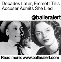 """Decades Later, Emmett Till's Accuser Admits She Lied- blogged by: @msjennyb- ⠀⠀⠀⠀⠀⠀⠀⠀⠀ ⠀⠀⠀⠀⠀⠀⠀⠀⠀ On August 21, 1955, 14-year-old EmmettTill arrived in Money, Mississippi to visit his uncle, Mose Wright. Three days later, Till went to a store owned by a white couple to buy bubble gum. As he left the establishment, he reportedly whistled at the 21-year-old owner, CarolynBryant. At the time, Bryant claimed Till grabbed her hand and tried to come on to her, asking for a date, which was later revealed in her testimony. ⠀⠀⠀⠀⠀⠀⠀⠀⠀ ⠀⠀⠀⠀⠀⠀⠀⠀⠀ Four days after the encounter, Bryant's husband and his half-brother, John William """"J.W."""" Milam, kidnapped Till, beat and shot him to death, leaving his body terribly disfigured. ⠀⠀⠀⠀⠀⠀⠀⠀⠀ ⠀⠀⠀⠀⠀⠀⠀⠀⠀ The two men were arrested and charged, however with the help of an all-white, all-male jury, they were acquitted. Decades later, the woman behind the murder that helped drive the American civil rights movement, admitted to exaggerating the story that led to the mutilation of Till's body. ⠀⠀⠀⠀⠀⠀⠀⠀⠀ ⠀⠀⠀⠀⠀⠀⠀⠀⠀ """"Nothing that boy did could ever justify what happened to him,"""" Carolyn Bryant Donham is quoted saying in """"The Blood of Emmett Till"""" by Timothy Tyson. ⠀⠀⠀⠀⠀⠀⠀⠀⠀ ⠀⠀⠀⠀⠀⠀⠀⠀⠀ For years after the trial, Bryant went into hiding. She divorced, remarried, divorced and remarried again, without ever giving an interview on what really happened on August 24th at the store in Mississippi. However, in 2007, things changed when the then-72-year-old agreed to speak with Tyson. ⠀⠀⠀⠀⠀⠀⠀⠀⠀ ⠀⠀⠀⠀⠀⠀⠀⠀⠀ In her conversation with Tyson, she confessed to fabricating the main part of her testimony. ⠀⠀⠀⠀⠀⠀⠀⠀⠀ ⠀⠀⠀⠀⠀⠀⠀⠀⠀ """"That part's not true,"""" Bryant said, referring to her claim that Till tried to come on to her with verbal and physical advances. In regards to what else really happened at the store in 1955, she said she couldn't remember, but she did say she .....to read the rest log on to BallerAlert.com (clickable link on profile) logon readmore: Decades Later, Emm"""
