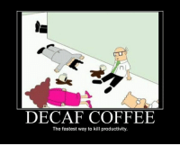 Love, Coffee, and Day: DECAF COFFEE  The fastest way to kill productivity. Celebrate the love of coffee every day!