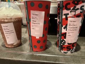 """today i got yelled at by a 10 yr old for spelling lord farquaad wrong. &amp; i loved it.: DECAF  DECAE  T-  * For Here *  SHOTS  Item: 1 of 1  Items in order: 1  * Shrek*  * For Here*  Vt Pep Hot Choc  Item: 1 of 1  Items in order: 1  Time 12.19:23 PM  Reg 2  *For Here  * Lord Farquad""""  >CAFE<  Item: 1 of 1  Items In order: 1  Vt Pep Hot Choc  *Princess Fiona  Time 12 18 48 PM  Reg 2  Gr Moc Cookie Frap  Time 12 17 00 PM  Reg 2  >CAFE<  >CAFE<  Careful, the beverage you're ahout fo e  Do not microwave. This cupp is made  Garoful, the beverage you'reabayt to  Donot microwave This cup bmaen  STAR  STAR BUCKS  STARB UCKS  STARB UCKS  CKS  STARBUCKS  STARBUCKS  STARBUCKS  STAR today i got yelled at by a 10 yr old for spelling lord farquaad wrong. &amp; i loved it."""