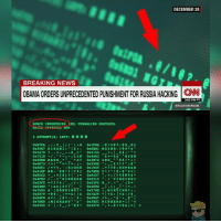 Memes, Skyrim, and Breaking News: DECEMBER 28  BREAKING NEWS  OBAMA ORDERS UNPRECEDENTED pUNISHMENT FOR RUSSIA HACKING CNN  3:03 PM PT  SITUATION ROOM  ROBCO INDUSTRIES  CIM) TERMALINK PROTOCOL  RE NON  Ox87FA  071 DI  OxiFOA.  0x39E7 RI GAMI l 0x6BD1 NGIER e &  0x7A78  a 0x6154  I i  0x721B  LIN 0x4A03  & t & GINN  0x45EB EAGE  0x3B72 ING  0x4E73 1  0x2988  t  0x6D61  t, BIO GE  0x1045  /2 e 2 SOPRAN  0x31DF NES  0x6437  0x4FE2 GINGHAM  0x8315  I TING IN GR  0x52F5  I & &  0x64E8  0x4602  0x7D94  GONG ING 0x278E  t MIN TING?  t  0x2879  0x26F0 &  0x2047  0x7BE5 MIGRANT  & 0x3851 PINGERS a  I'  0x3259 I.  0x367D After doing some research, CNN used a photo from a website that replicates the terminal hacking from Fallout (in case you wanna do that kinda thing while not playing Fallout, God help you). I found the actual screenshot they used too. Just thought this was pretty entertaining. - fallout fallout3 fallout4 falloutnv falloutnewvegas falloutmemes falloutmeme gaming gamer game games videogames eso elderscrolls skyrim bethesda cosplay cosplayer falloutcosplay vaultboy vaultdweller