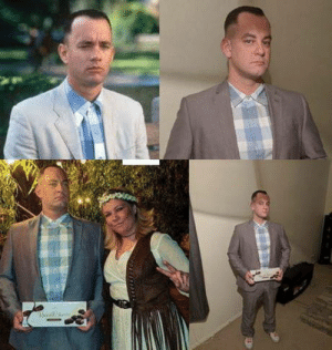Decided to go as Forrest Gump n Jenny this year. It was a hit!: Decided to go as Forrest Gump n Jenny this year. It was a hit!