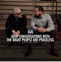"Being Alone, Love, and Memes: DEEP CONVERSATIONS WITH  THE RIGHT PEOPLE ARE PRICELESS  @MILLIONAIRE MENTOR But then your question is… How do I connect with influential people? Read on 👀 ✔️Treat them like real people. While you don't want to go in the opposite direction and play the ""too cool for school"" game, try not to spend your time openly fangirling over the person you're talking to. It's actually quite uncomfortable to have people gushing over you, and it doesn't allow for you two to talk as equals. This all sounds really obvious but I've heard horror stories about people totally losing it when meeting someone they admire. 🤔 ✔️Don't be afraid to get a little personal. Talking to important people about their professional lives is already intimidating enough, let alone when they start diving into something personal that doesn't have anything to do with their career. Keep in mind that real relationships are built once you start straying away from simple small talk , so if the other person opens up that opportunity to really connect, don't shy away from it! ✔️Don't skip the follow-up. After you've had the opportunity to talk to someone who's successful and impressive, you might feel like you're being a nuisance by following up after the conversation. Don't be! - Comment below someone you would love to meet And why) and talk for at least 30 mins! Go! - influence success mentors millionairementor"