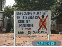 laughoutloud-club:  Meanwhile, in the Philippines we have signboard like this: DEFECATING IN ANY PART  OF THIS AREA IS  STRICTLY  PROHIBITED  BY ORDER  BRGY. 13 ZAMBOANGA  ZAMBOFIRS laughoutloud-club:  Meanwhile, in the Philippines we have signboard like this