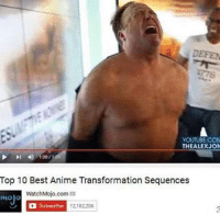 Animals, Anime, and Transformers: DEFEN  YOUTUBE.COM  THEALEXJON  120/  Top 10 Best Anime Transformation Sequences  WatchMojo.com  mojo  a Subscribe 12,182,206
