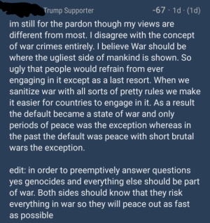 Defending Gallagher by saying you are cool with war crimes and genocide: Defending Gallagher by saying you are cool with war crimes and genocide