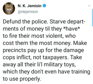 Defund them, make them pay out of their own pockets by bluntbutnottoo MORE MEMES: Defund them, make them pay out of their own pockets by bluntbutnottoo MORE MEMES