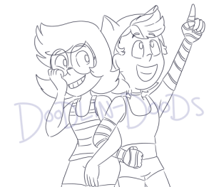 Friends, I Bet, and Tumblr: DEg  DS  po ALAN doodlin-doods:  i bet they'd be best friendsboth characters from @drawbauchery