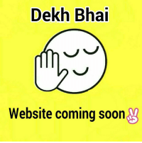 Dekh Bhai  Website coming soon  V So guys we have decided to come up with our website ✌ ComingSoon We feel damn lucky to have gained so much of love for this acc from all u people & celebs 👍 ThanksToInstagram Every coin has 2 Sides; With ppl showing u love, there will come hatred with it too, learn to handle it.. Don't get distracted👍 iWasSaidYesterday We wanted to take Copyrights of Dekh Bhai, but Someone has already taken it.!! We want everything to be done legally & we feel lucky to have Legal support from @iSahilKhan AwesomePerson 👌 Learned from him how to handle haters 👍 Never say anything to them, just give them love & blessings ✌ Coz they motivate u to do better 👍 SoMuchToLearn WhatAGuy Motivation RespectForever We didn't had thought we will grow so fast & so big ✌ ThanksToYouAll We have talked with our social media experts & we need a website for it for all next aims to complete 👍 We request u all, to provide name suggestion for this page, for website & also various sections which you want to be featured, bollywood gossips, trolls & all👍 YouCanSendUsDM Whichever we like, a surprise gift will be given ✌✌✌ EachSuggestionisValuedEqually 💕💞