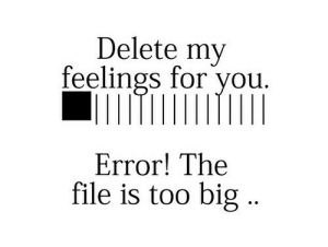 too big: Delete my  feelings for you.  Error! The  file is too big