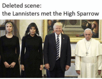 Sparrow, Scene, and High: Deleted scene:  the Lannisters met the High Sparrow https://t.co/AeVdhtTP5G